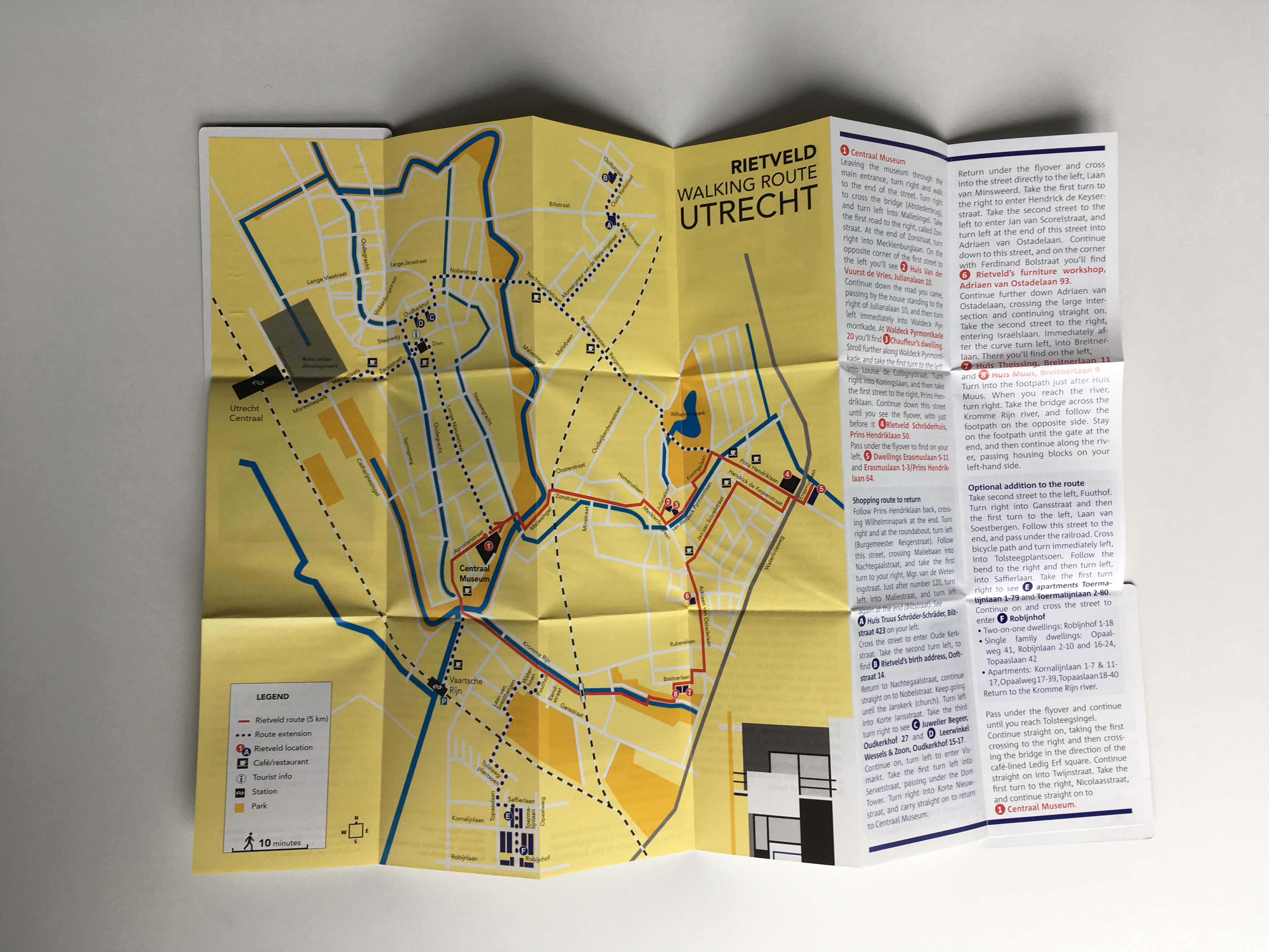 Rietveldroute Utrecht