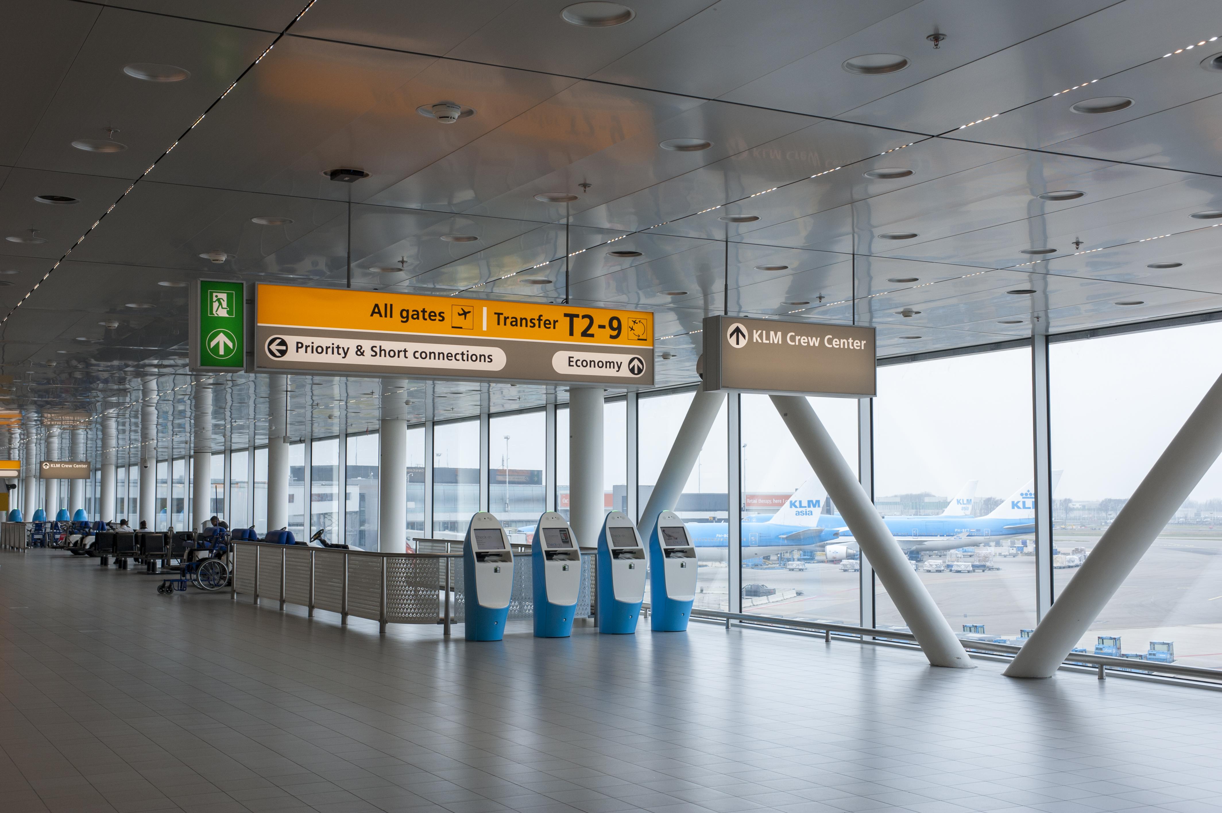 Wayfinding Amsterdam Airport Schiphol